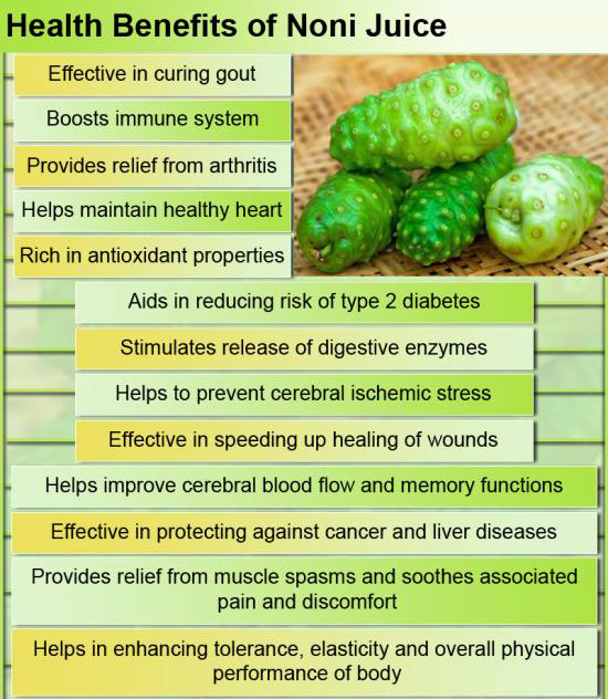 health benefits, noni juice, cancer prevention, cancer protection, healthy functioning liver, cardiovascular health, relaxed muscles